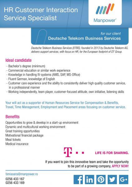Entry Job Opportunities - HR Specialist_Deutsche